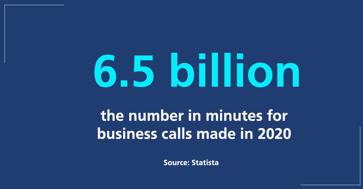 business calls made in 2020